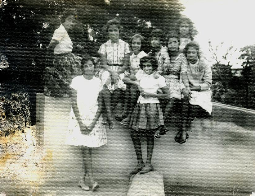 Boarders 1963 - Top Row - Meera Nair, Vineeta Das, Rani Cariappa, Mary Mathews, Annu Kuruvilla, Hima Bhandari, Susan Jacob Standing - Hema Krishnayya, Mary Paul
